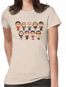 THAT 70'S SHOW - MAIN CHARACTERS CHIBI - MANGA 70'S SHOW Womens Fitted T-Shirt