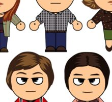 THAT 70'S SHOW - MAIN CHARACTERS CHIBI - MANGA 70'S SHOW Sticker