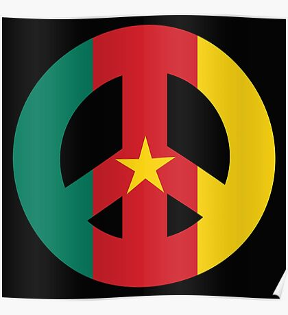 Cameroon Peace Symbol Poster