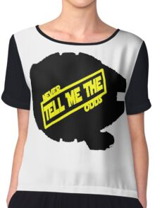 Han Solo:  Never Tell Me the Odds Chiffon Top