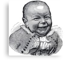 Vintage Ugly Baby Canvas Print
