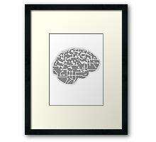 cyborg brain machine computer science fiction microchip intelligence brain design cool robot Framed Print