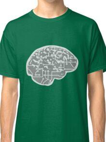 cyborg brain machine computer science fiction microchip intelligence brain design cool robot Classic T-Shirt