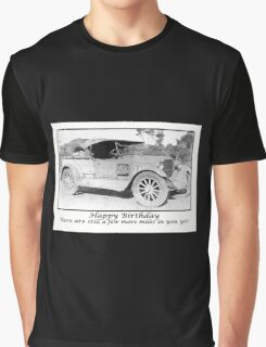 Vintage 1930 car,Happy Birthday, Humour, Black and white Photo Graphic T-Shirt