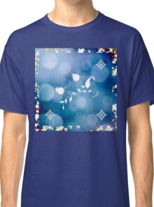 Blue Flowers Scarf Classic T-Shirt