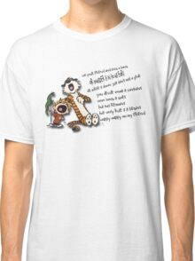 Calvin & Hobbes Go Backwards Down the Number Line (Phish) Classic T-Shirt