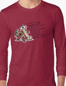 Calvin & Hobbes Go Backwards Down the Number Line (Phish) Long Sleeve T-Shirt
