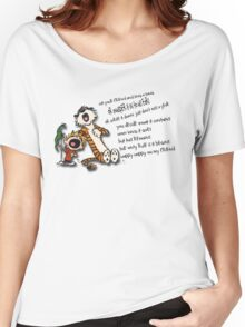 Calvin & Hobbes Go Backwards Down the Number Line (Phish) Women's Relaxed Fit T-Shirt