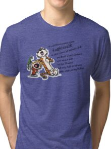 Calvin & Hobbes Go Backwards Down the Number Line (Phish) Tri-blend T-Shirt