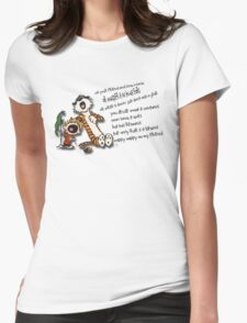 Calvin & Hobbes Go Backwards Down the Number Line (Phish) Womens Fitted T-Shirt