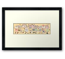 Cartoon Pets Whimsical Cats Framed Print