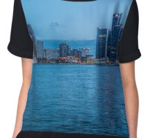 Detroit Skyline  Chiffon Top