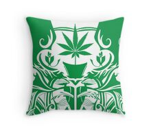 Cannabis Illustration in the Art Nouveau Style Throw Pillow
