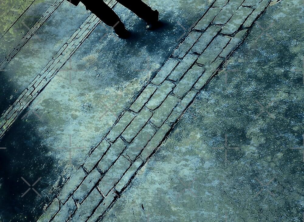 Blue Rain Walking by Scott Mitchell