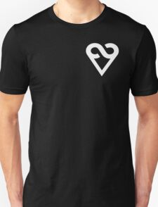 A Love Ever-present (heart only, left chest, white) T-Shirt