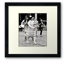 Never Alone with Teddy Framed Print