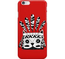 Hand Drawn Black and White Tribal Owl iPhone Case/Skin