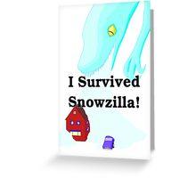 Snowzilla Greeting Card