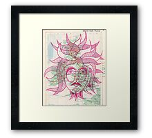 Green Man in Red Framed Print