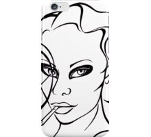Woman with cigarette. iPhone Case/Skin
