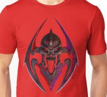 RED PURPLE BLACK HEAD CREST Unisex T-Shirt