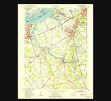 USGS TOPO Map New Jersey NJ Woodbury 255004 1951 24000 Unisex T-Shirt