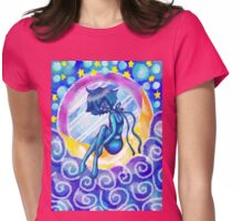 Mirror Moon Sailing Down Womens Fitted T-Shirt