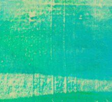 Blue Stripes - Green Tint Sticker
