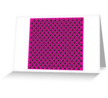 Black 3D Stars with Shocking Pink Greeting Card