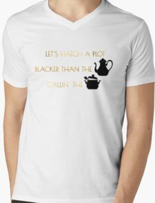 Let's Hatch A Plot Mens V-Neck T-Shirt