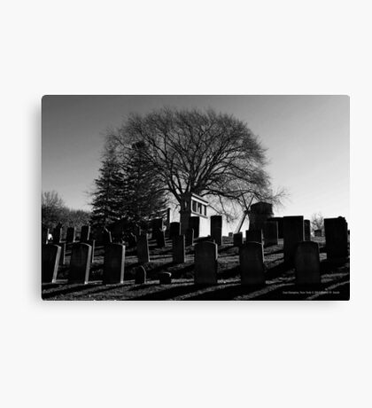 South End Cemetery | East Hampton, New York Canvas Print