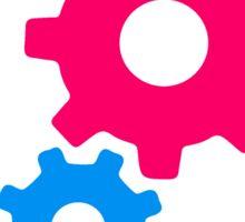 cool cogs design engine clockwork turn mechanically Sticker