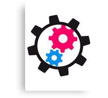 cool cogs design engine clockwork turn mechanically Canvas Print