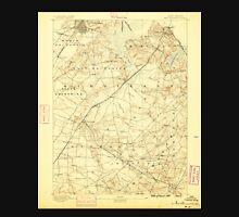USGS TOPO Map New Jersey NJ New Brunswick 255290 1888 62500 Unisex T-Shirt