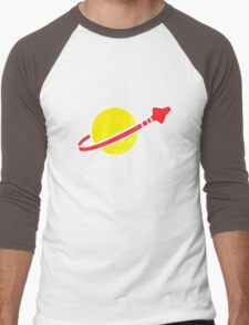 80's Space Bricks Men's Baseball ¾ T-Shirt