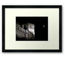 One dark night under the moon... Framed Print
