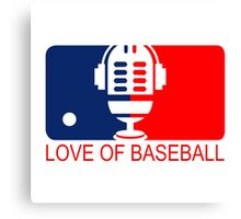 love of baseball Canvas Print