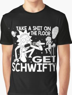 Rick and Morty Inspired Get Schwifty Graphic T-Shirt