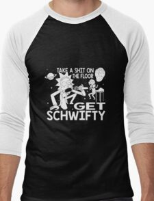 Rick and Morty Inspired Get Schwifty Men's Baseball ¾ T-Shirt