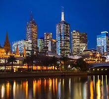 City of Melbourne at Blue Hour by Ewan Arnolda