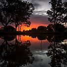 Rosser Park Sunset by D Byrne