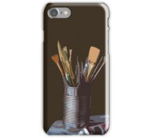 Paintbrushes in a mug iPhone Case/Skin