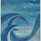 The Churning (embroidered seascape) by Neroli Henderson