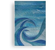 The Churning (embroidered seascape) Canvas Print