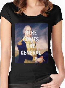 Here Comes the General - George Washington Women's Fitted Scoop T-Shirt