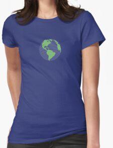 420 cannabis globe Womens Fitted T-Shirt