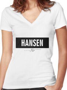 Hansen 7/27 - Black Women's Fitted V-Neck T-Shirt