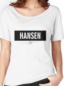 Hansen 7/27 - Black Women's Relaxed Fit T-Shirt