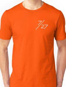 7/27 White Unisex T-Shirt