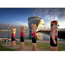 Bollards and Silver Spirit - Geelong Photographic Print